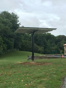 Image of the solar panel array located at Edwardsville Township Community Park