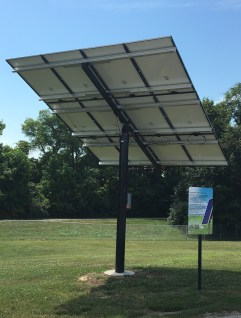 Photo of the Solar Array at Edwardsville Township Community Park