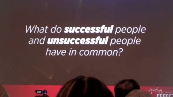 what do successful and unsuccessful people have in common?