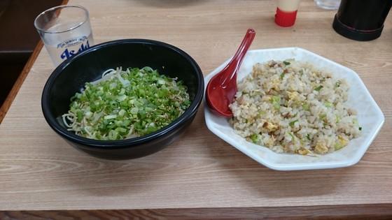 ラーメン樹バン麺小とチャーハン小