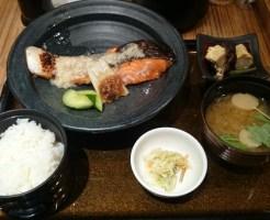 銀鮭の塩こうじ焼き定食