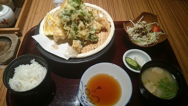 佐海屋旭活穴子天ぷら定食