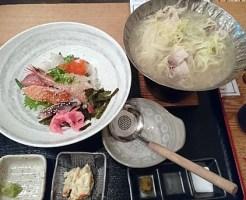 海鮮丼と黒豚ねぎしゃぶしゃぶ膳