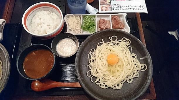 カレー釜玉つけ麺セット