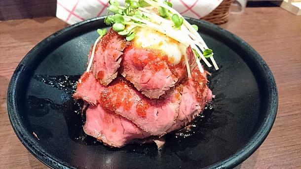 ローストビーフ丼L