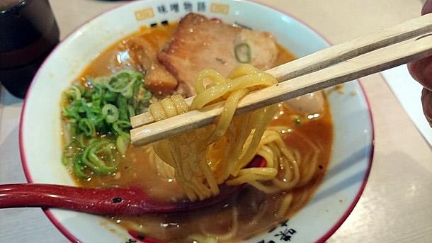 北海道百年味噌ラーメン 麺