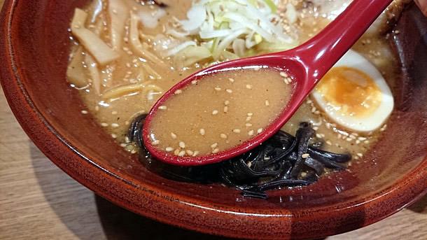 焙煎ごまみそ炙りとろチャーシュー麺 スープ