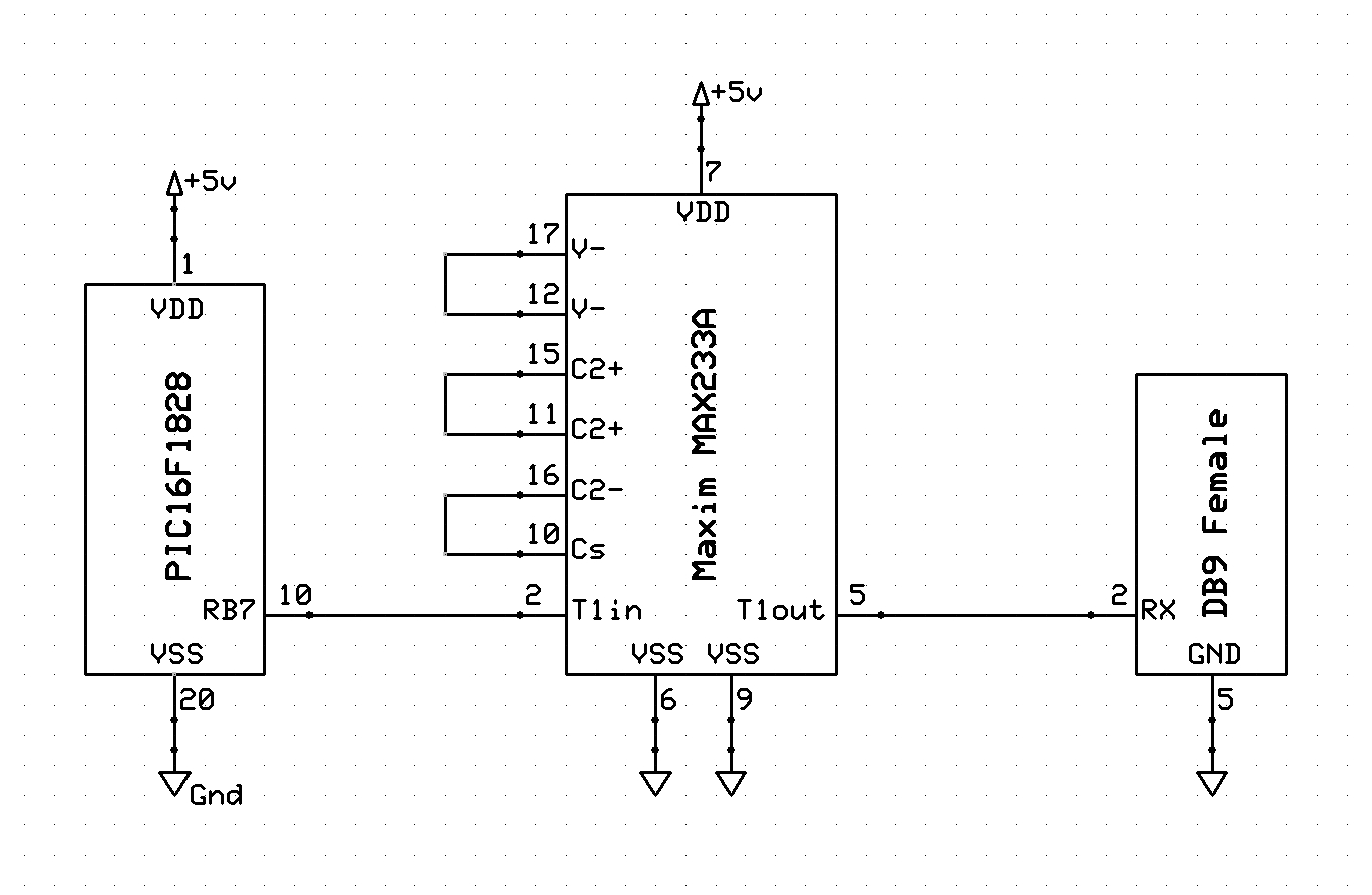 Microchip Pic Simple Eusart Serial Example James Ee Blog