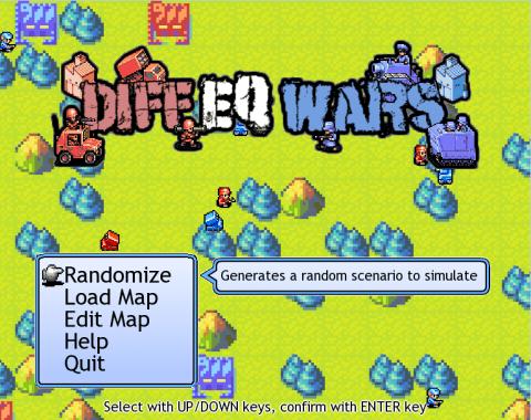 Diff EQ Wars title screen