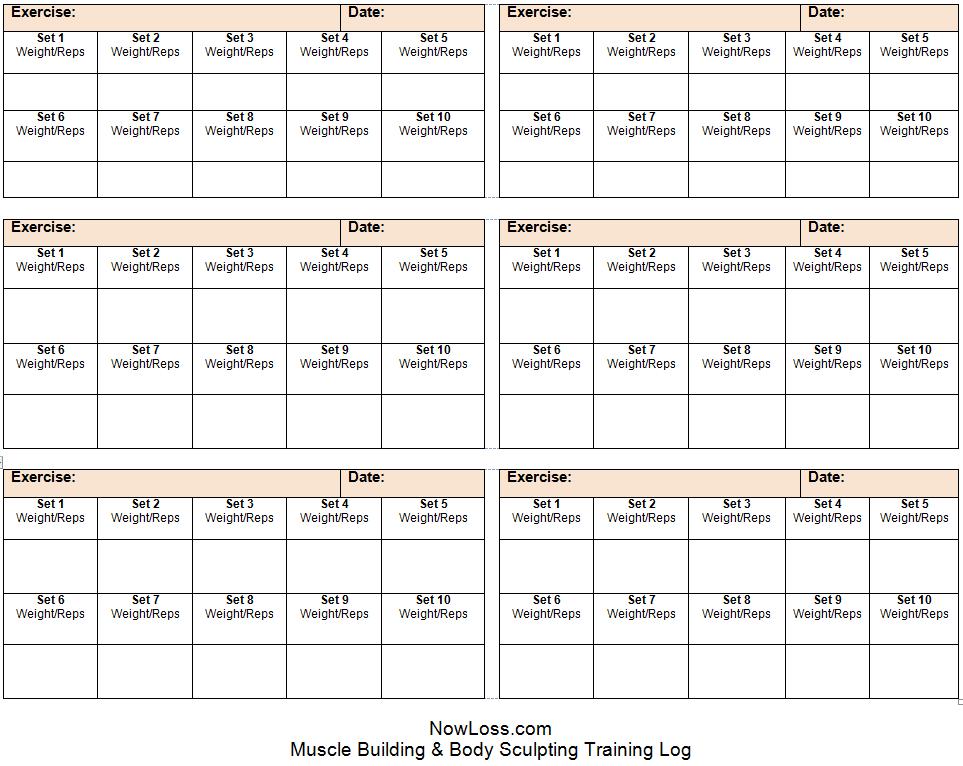 training journal template