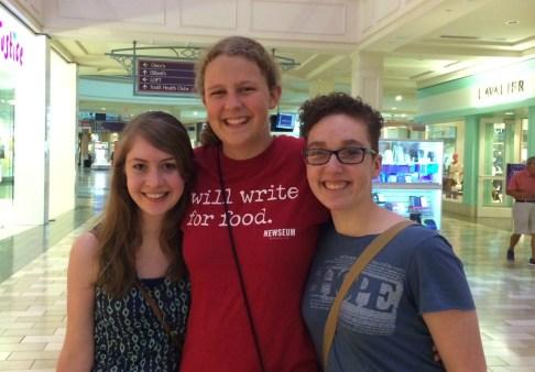 From left to right: Brooke Norris, Sarah Spradlin, Brenna Hay