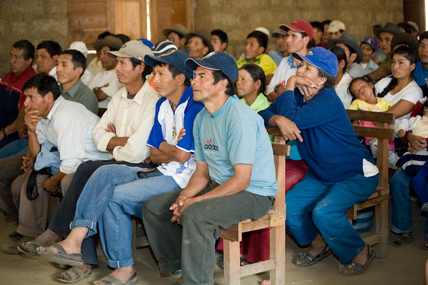 Meeting at the San Fernando Co-op, Peru