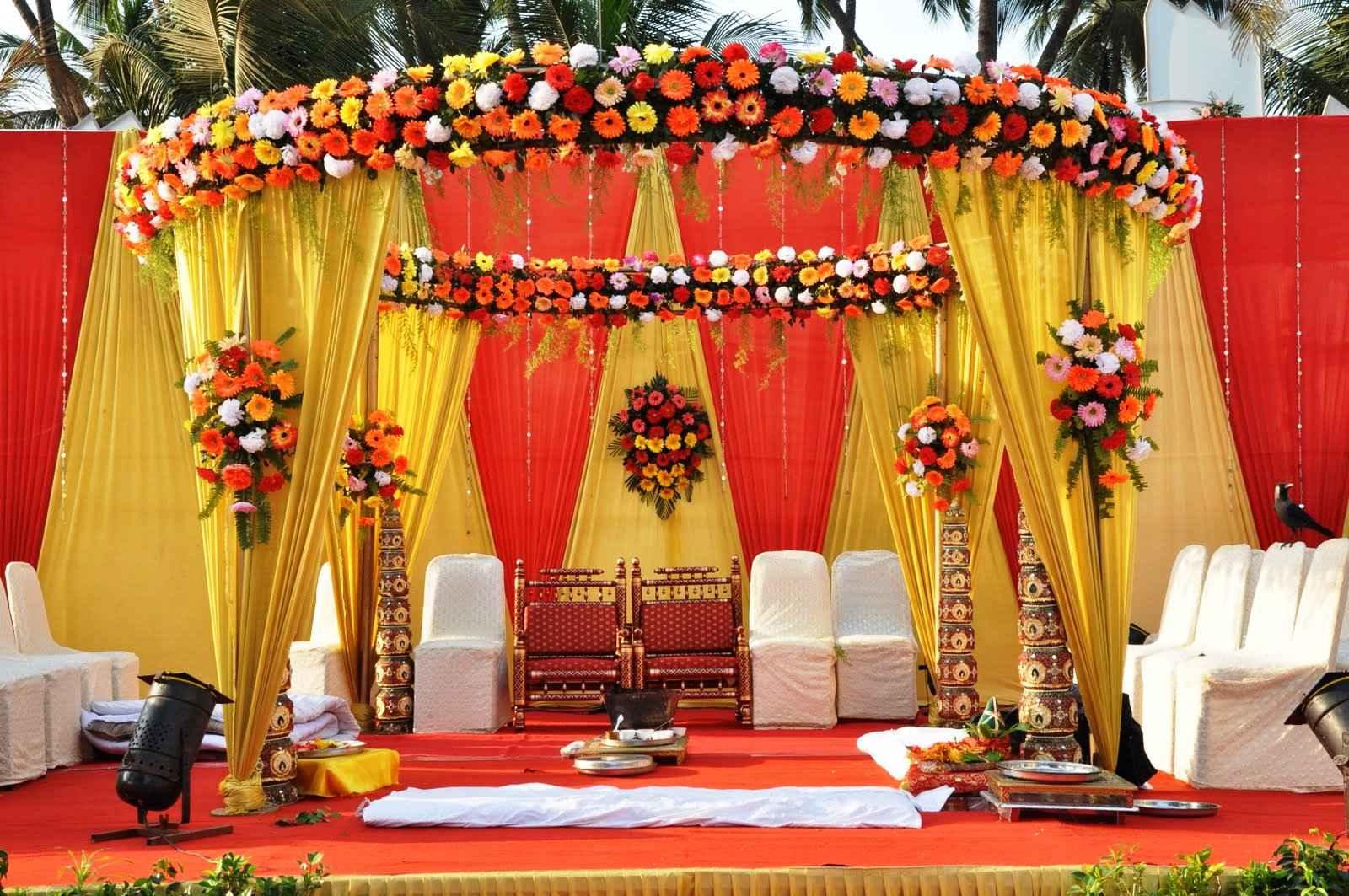 Indian Wedding Flower Arrangements Wedding Flower Decorations