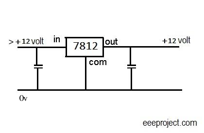 7812 voltage regulator circuit