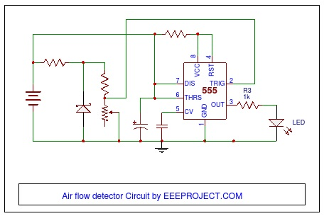 air flow detector circuit working and application rh eeeproject com Air Flow Diagram into Body Air Flow Diagram Ball