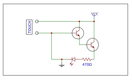 resistive touch sensor circuit