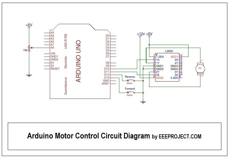 Arduino Motor Control Circuit Diagram - EEE PROJECTS
