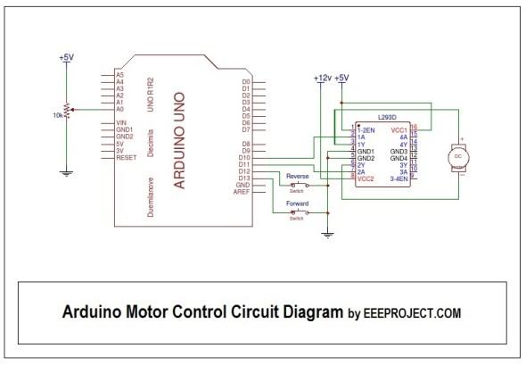 Arduino Motor Control Circuit Diagram