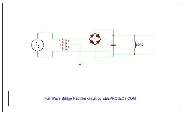 Full Wave Bridge Rectifier Circuit