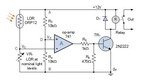 Role of bridge circuit in Light Detectors