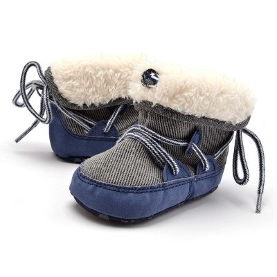 Infant Shoes Baby Boy Girl Canvas Shoes Cotton Sole Soft Keep Warm Newborns Toddler First Walkers Free Shipping