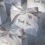 New Creative Grey Marble Gift Bag Box for Party Baby Shower Paper Chocolate Boxes Package/Wedding Favours candy Boxes