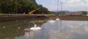 Floating Surface Wastewater Aerator in Lake