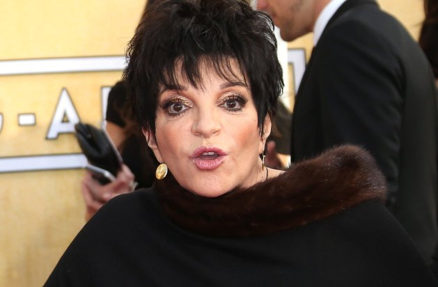 LOS ANGELES, CA - JANUARY 18: Liza Minnelli arrives at the 20th Annual Screen Actors Guild Awards at the Shrine Auditorium on January 18, 2014 in Los Angeles, California. (Photo by Dan MacMedan/WireImage)