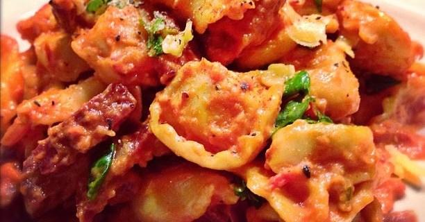 Tortellini met Chorizo en groentjes