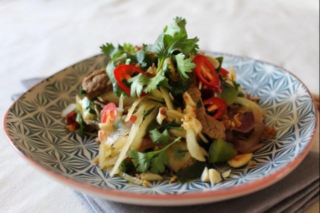 Aziatische wok met rundvlees