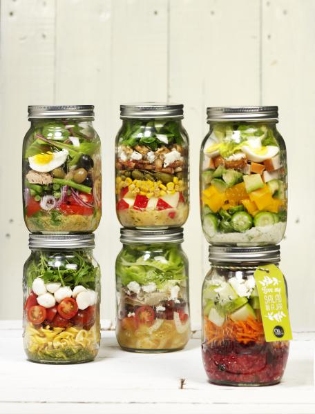 Oil & Vinegar salad in a jar