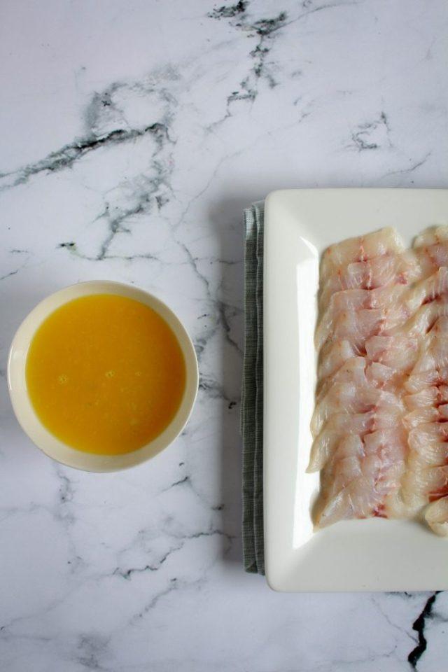 Dressing voor ceviche van zeebaars / www.eenlepeltjelekkers.be