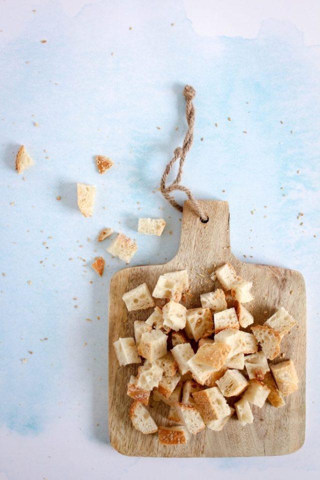 Croutons maken / www.eenlepeltjelekkers.be