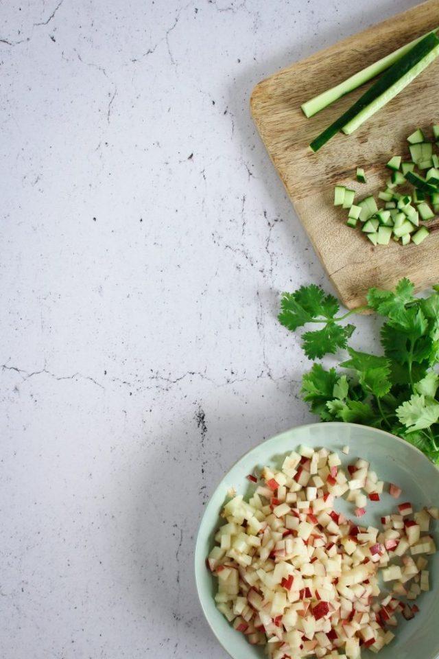 Nectarinesalsa maken / www.eenlepeltjelekkers.be