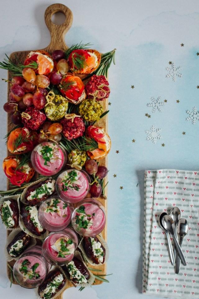 Feestelijke aperitiefplank / www.eenlepeltjelekkers.be