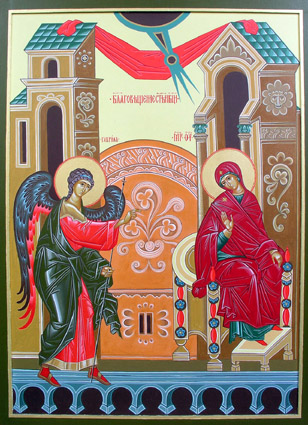 March 26, 2017 Fourth Sunday of the Great Fast, Octoechos Tone 4; Leave-taking of the Annunciation; Synaxis of the Holy Archangel Gabriel