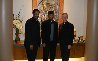 Eritrean Eastern Catholic Bishop visits Bishop David