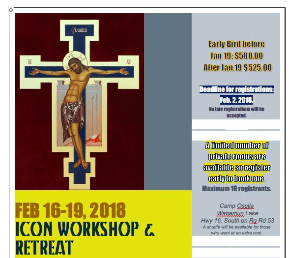 Iconography Retreat/Workshop
