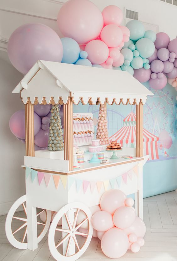 candy cart carnival theme