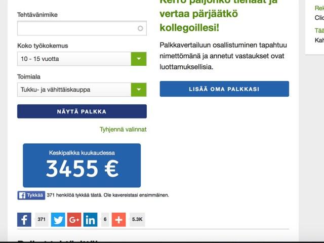 Soomes on keskmine palk 3500 eurot