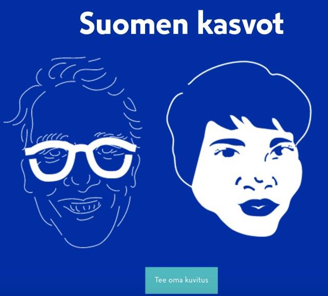 Proovi Soome 100 rakendust Suomen kasvot!