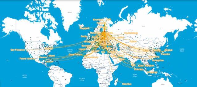 Helsingist võimalik lennata 331 sihtkohta