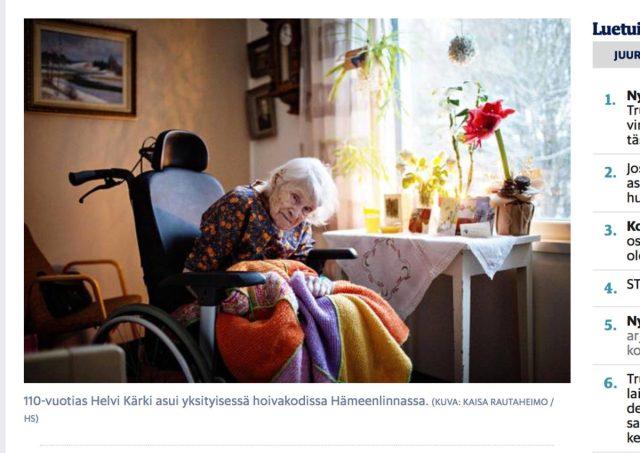 Soome vanim inimene suri 110-aastaselt