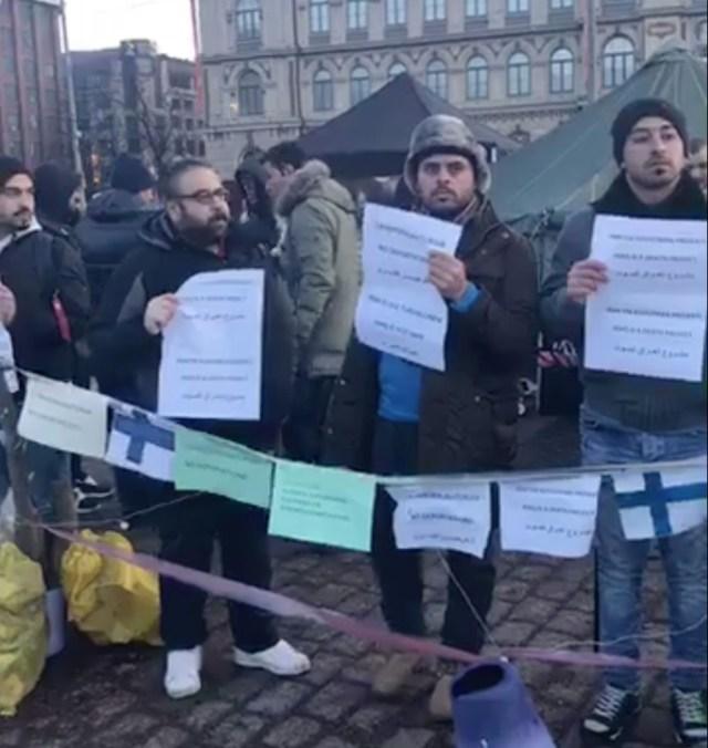 KUUM: Meeleavaldajad aetakse Helsingi kesklinnast minema
