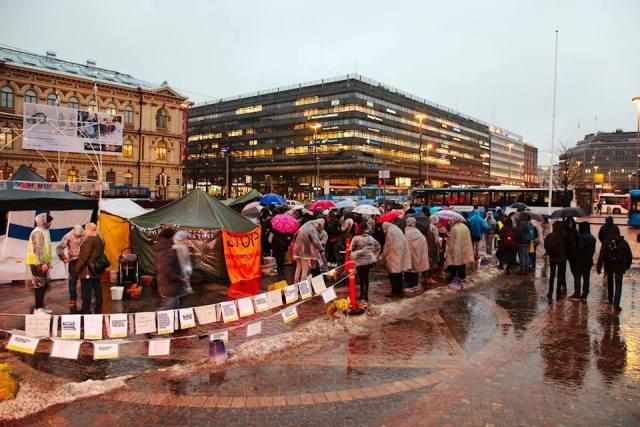 Politsei soovitab täna vältida Helsingi raudteejaama ümbrust