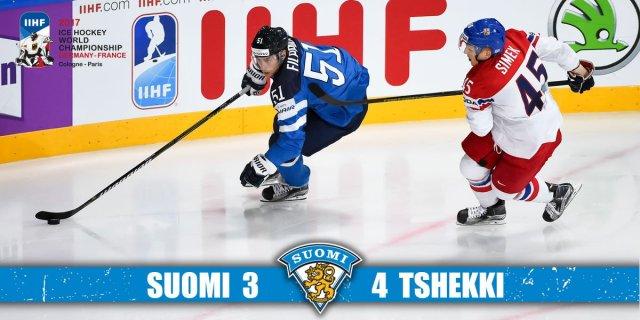 Soome kaotas hoki MMil Tšehhile 3:4
