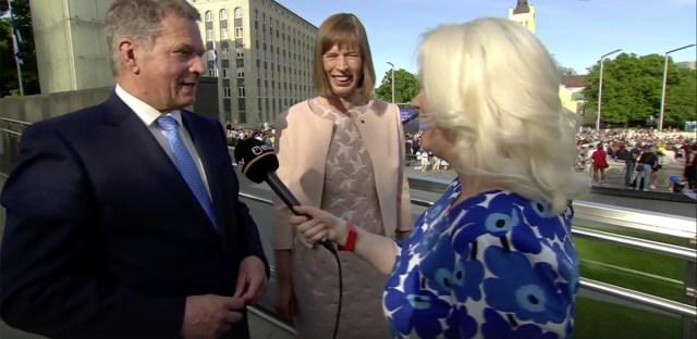 Soome president kiitis Eesti puhtust ja rulaväljakuid
