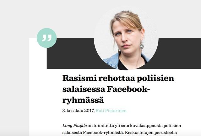 Skandaal Soomes: politseinikud kirjutasid kinnises Facebooki grupis rassistlikke kommantaare