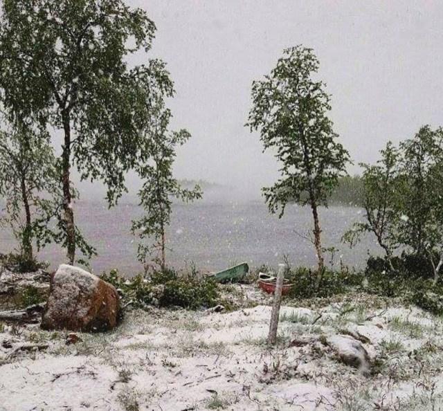 Soomes purunes juulikuu lumerekord: öösel sadas maha 5 cm lund