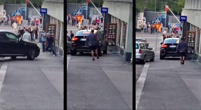 Helsingis BMW ette jäänud mees: olin minemas sööma, aga auto tuli selga
